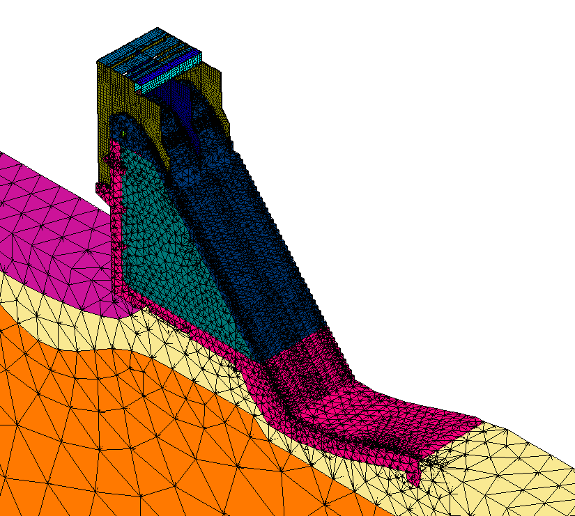 Расчетные модели секций №21-22