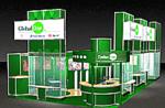 Выставочный стенд компании Global One разработанный с помощью 3D Studio VIZ