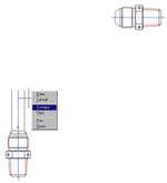 Рис. 17. Для соединения штуцера трубой вызывается контекстное меню, а в нем - строка «Соединить»