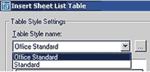 Рис. 3. Выбор стиля отображения таблицы