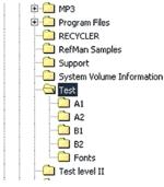 Рис. 15. Структура папок, полученная при распаковке комплекта по методу Use organized folder structure