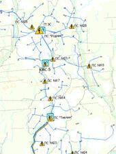 Отображение систем нефтесбора, ППД и энергообеспечения в ГИС УДОМ