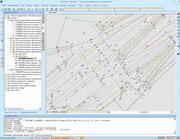 Данные съемки дороги, подгруженные в формате DXF