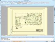 Пример топографического плана, выполненного в программе