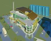 """Электросталь. Многоэтажный паркинг с торгово#сервисными помещениями и помещениями для занятий спортом """"Кашалот""""."""