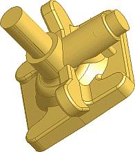 Рис. 5. Созданая в Autodesk Inventor модель литейной детали