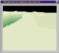 3D просмотр модели местности