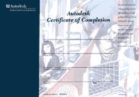 По окончании курса слушателям выдается сертификат фирмы Autodesk: международного образца и признаваемый во всем мире