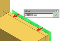 Чтобы создать рабочую плоскость, укажите в качестве прототипа на грань уже готовой модели, «зацепитесь» за нее и, удерживая левую клавишу мыши, перетаскивайте в нужном направлении... Только отслеживайте величину перемещения в диалоговом окошечке...