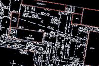 Построение контуров генплана по внедренному растровому изображению