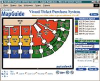 Система продажи билетов на стадион, созданная специалистами Autodesk для демонстрации возможностей MapGuide