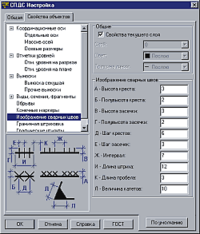 Рис.12в. Настройка обозначений в СПДС GraphiCS