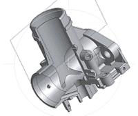 Рис. 1. Корпус карбюратора К68. Модель восстановлена в Autodesk Inventor по чертежам