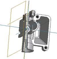 Рис. 2. Корпус карбюратора К38, полученный в Autodesk Inventor модификацией корпуса К68