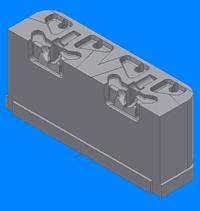 Рис. 7 (иллюстрация справа). Модель вставки 1 в прессформу созданная в Autodesk Inventor