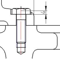Глубина цековки - 4 мм