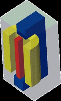 Электромагнит (выделенная расчетная область)