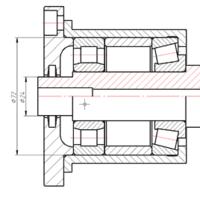 Рис. 9. Изменим диаметры ступеней вала. В результате автоматически изменились следующие детали: два подшипника, компенсатор, стакан, запорная крышка с уплотнением