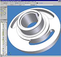 Модель наклонного диска в Autodesk Inventor
