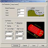 Задание параметров операции сопровождается графическими подсказками