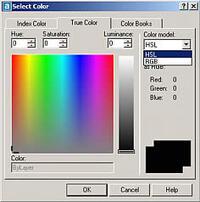AutoCAD 2004 поддерживает полноцветный режим True Color