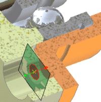 Распознавание точки вставки и номинала винта при его вставке в отверстие запорной крышки