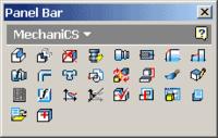Панель инструментов MechaniCS 4.0 Inventor при проектировании модели