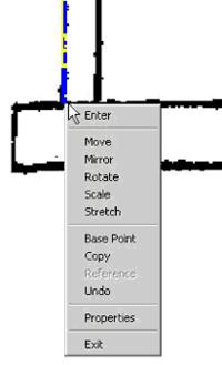 Рис. 6. У «ручек» растровых линий есть контекстное меню - как у примитивов AutoCAD
