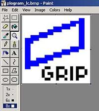 Пример изображения цветной кнопки