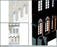 Фрагмент фасада в Autodesk Architectural Desktop 2004