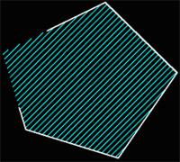 Рис. 45. Исходная область с разрывом и заштрихованная область