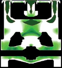 Рис. 8. Участки возможного появления микропористости