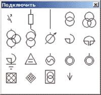 Рис. 2. Окно со списком элементов, включаемых в модель