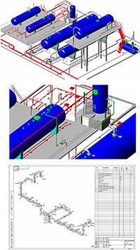 Рис. 20. Оформление чертежа изометрии в PLANT-4D (программный модуль Izogen)