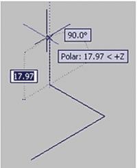 Рис. 6. Непосредственный ввод координаты Z