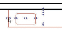 Рис. 5. Параметры объектов, отвечающие за размеры семейства, можно редактировать графически, посредством синих «ручек»
