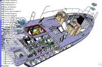 Рис. 3. Установка пультов управления (модель подрядчика «Полар сервис») в основную модель катера проекта 21770