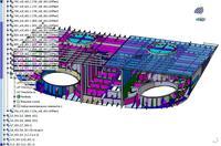 Рис. 4. 3D-модель кормовой секции морского транспортного судна