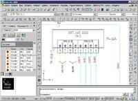 Рис. 1. Оформление принципиальной электрической схемы системы (ElectriCS 7 Pro Авиация)