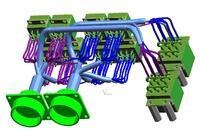 Рис. 4. 30-моделирование монтажа электрического жгута агрегата (NXRouting Electrical)
