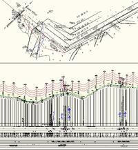 Рис. 14. Оформленный профиль и план трассы ВЛ 220 кВ
