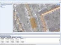 Рис. 5. Визуализация результатов поиска по буферной зоне совместно с материалами Google Maps