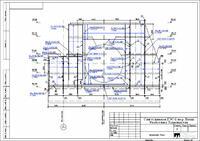 Пример чертежа по объекту Сангтудинская ГЭС-1, полученный в Project StudioCS Конструкции