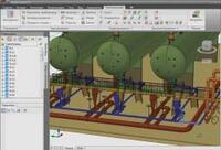 Рис. 1. Трехмерная модель Model Studio CS, передаваемая в программу Гидросистема