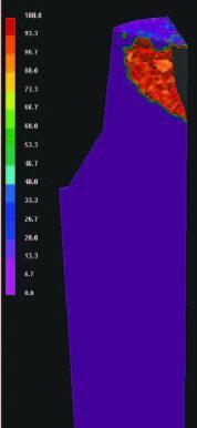б - слиток 142 т, утепления зеркала расплава в прибыли через 30 мин. после заливки (СКМ ЛП ProCAST);
