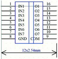 Рис. 7. Импортированное УГО микросхемы ULN2003