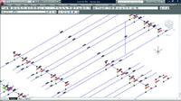Рис. 3. Автоматическое формирование фиктивных трасс с учетом габаритов