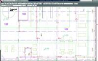 Рис. 5. ПКТ на плане в AutoCAD