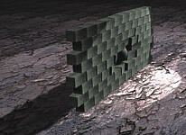 Разрушение стены, смоделированное в пакете reactor
