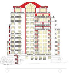 Фасады высотного здания